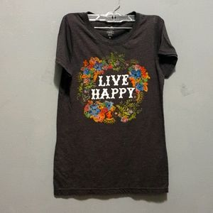 Natural life live happy tee